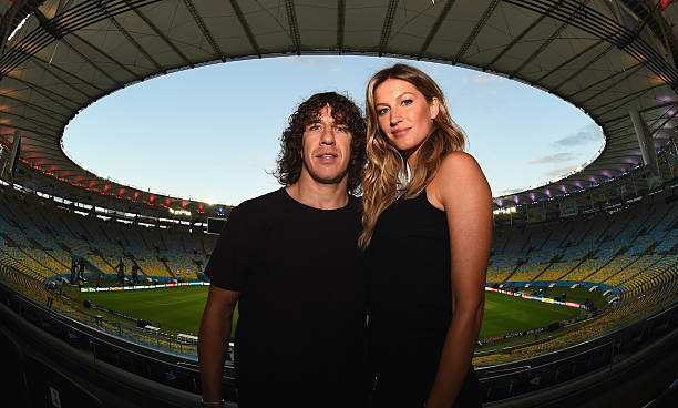 BRA: Puyol & Gisele To Unveil Trophy Prior To The Final- 2014 FIFA World Cup Brazil
