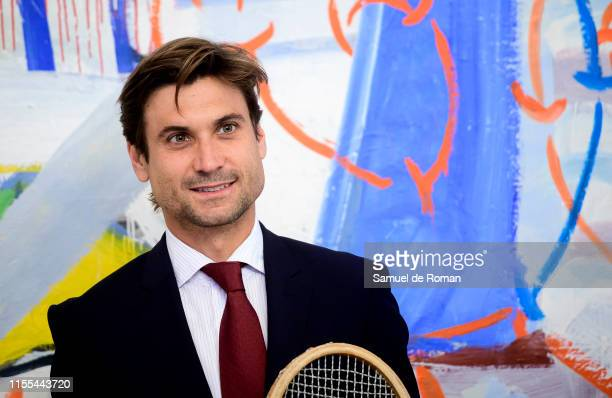Retired Spanish professional tennis player David Ferrer receives a Golden Medal of Sports Merit on June 12, 2019 in Madrid, Spain.