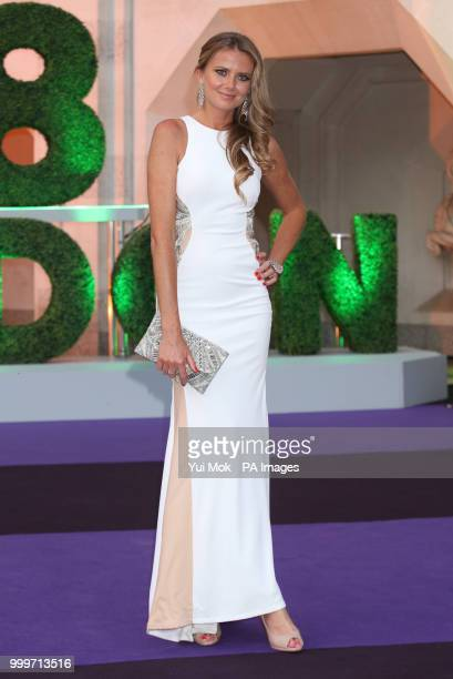 Retired tennis player Daniela Hantuchova arrive at the Champions' Dinner at the Guildhall in The City of London