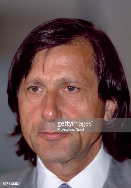 Retired tennis player Ilie Nastase of Romania during the US Open at the USTA National Tennis Center circa September 2000 in Flushing Meadow New York...