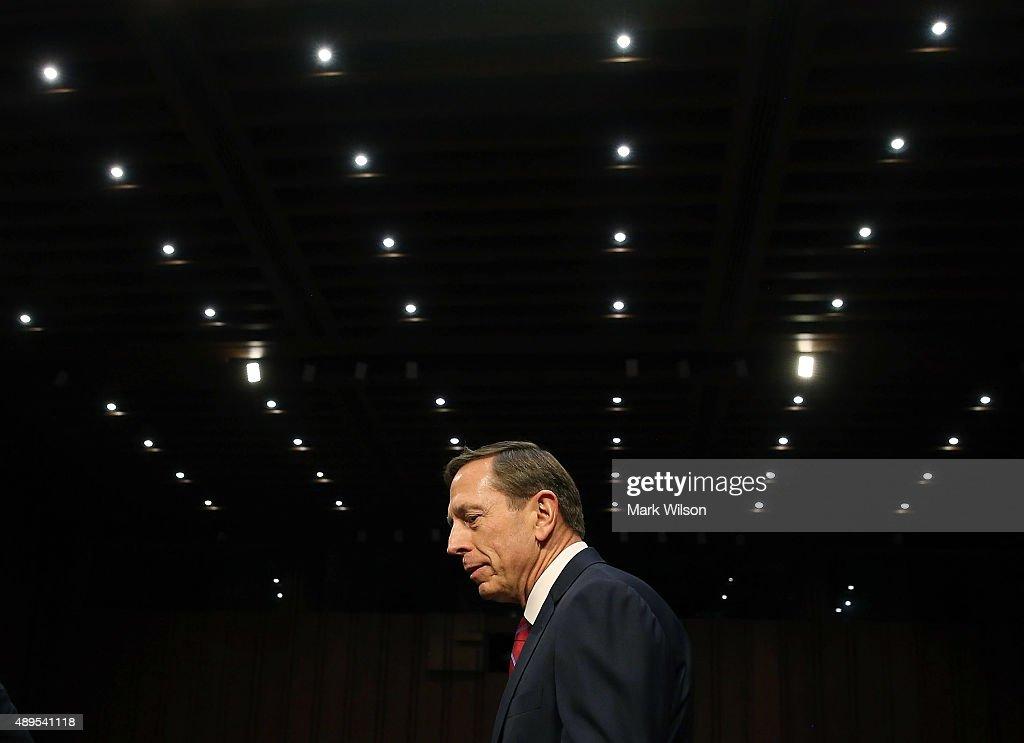 Retired Army Gen. David Petraeus Testifies To Senate Hearing On U.S. Mideast Policy