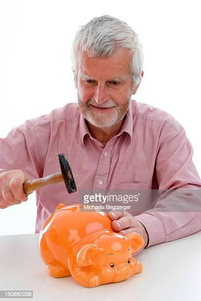 Retiree robs the piggy bank