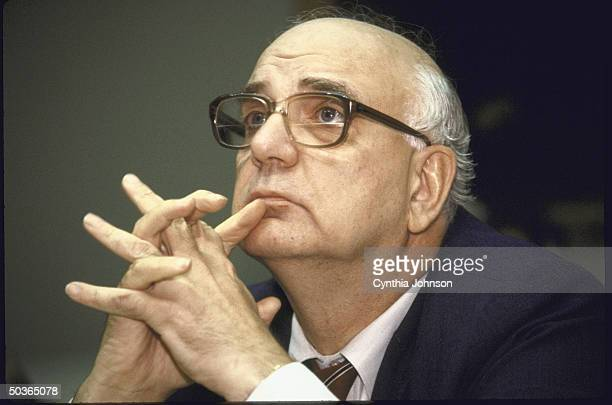 Retiring Federal Reserve Board Chairman Paul A Volcker speaking before the House Banking Committee