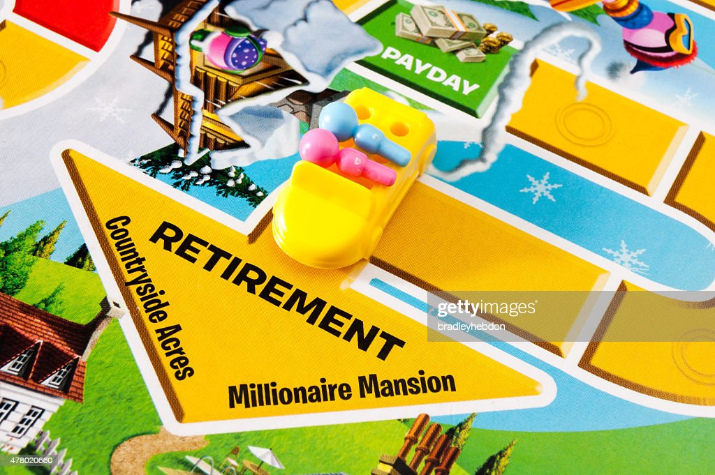 Retiring in The Game of Life : Stock Photo