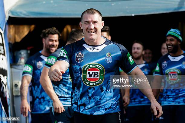 Retiring NSW Origin skipper Paul Gallen during the New South Wales Blues State of Origin captain's run at ANZ Stadium on July 12 2016 in Sydney...