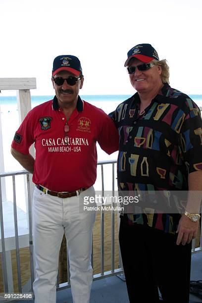 Reto Gaudenzi and Peter Loftin attend The Club at Casa Casuarina presents The Miami Beach Arena Polo World Cup 2005 at Casa Casuarina on April 15...