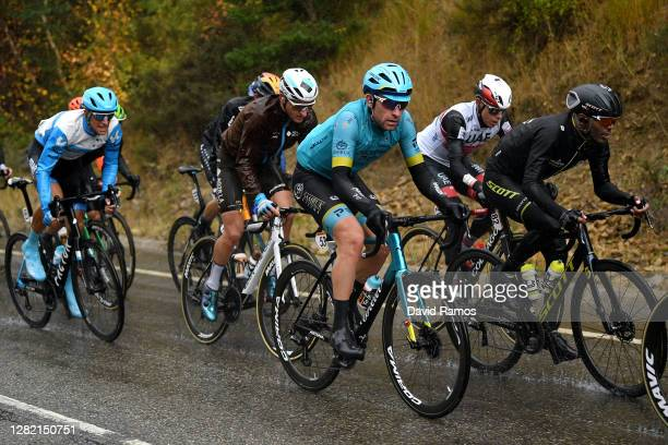 Reto Hollenstein of Switzerland and Team Israel Start-Up Nation / Nans Peters of France and Team AG2R La Mondiale / Dmitriy Gruzdev of Kazahkstan and...