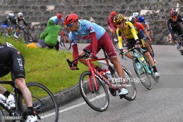 Reto Hollenstein of Switzerland and Team Katusha Alpecin / during the 102nd Giro d'Italia 2019 Stage 18 a 222km stage from Valdaora to Santa Maria di...