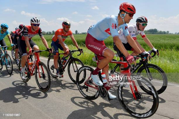 Reto Hollenstein of Switzerland and Team Katusha Alpecin / Tom Bohli of Switzerland and UAE Team Emirates / Nicola Conci of Italy and Team Trek...