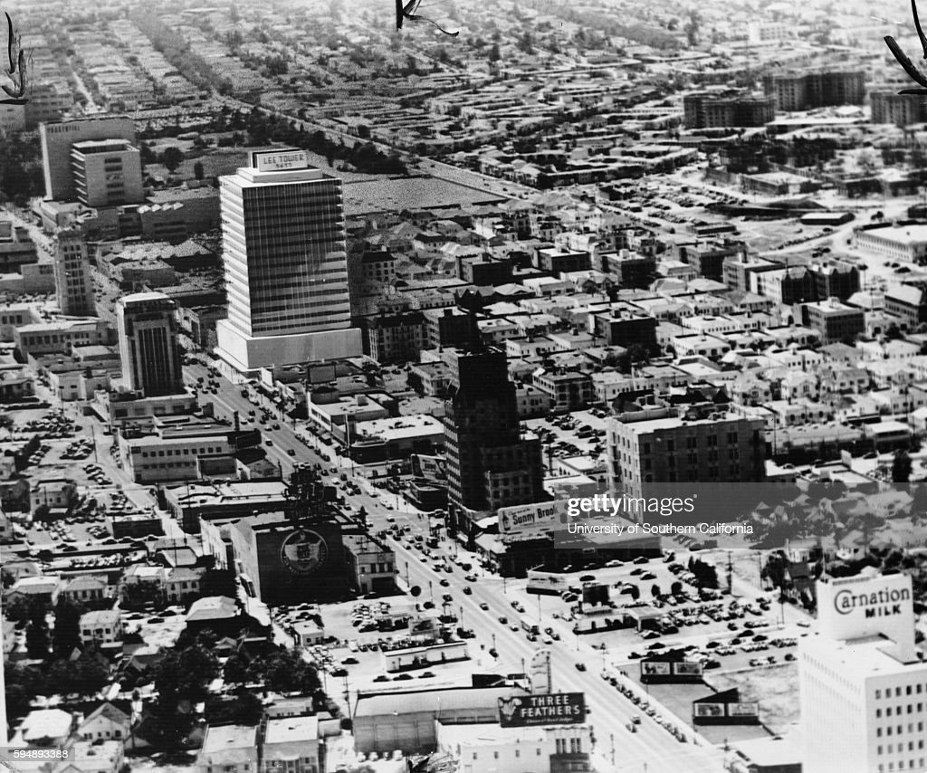 Aerial View Of Lee Tower 5455 Wilshire Blvd Los Angeles 1958