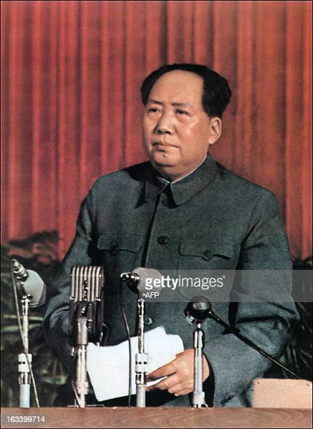 Retouched picture released by Chinese official news agency of Mao Zedong, Chairman of the Chinese Communist Party from 1935 until his death in 1976,...