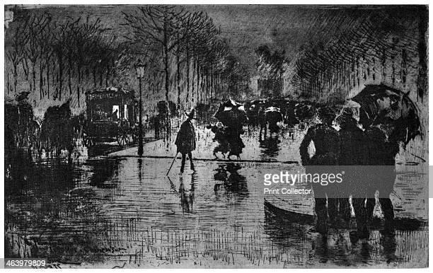 'Retour des ChampsElysees' c18701900 A print from A History of French Etching from the 16th Century to the Present Day by F L Leipnik John Lane the...
