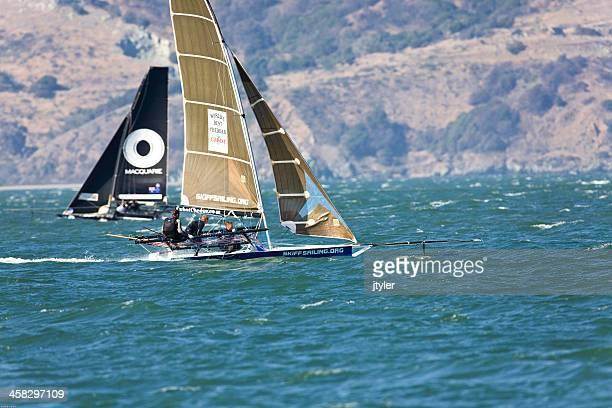 Retractable Bowsprit Racing skiff