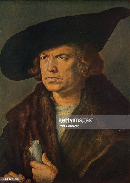 Retrato de Hans Imhoff' Portrait of a merchant possibly Hans Imhoff by German painter printmaker and theorist of the German Renaissance Albrecht...