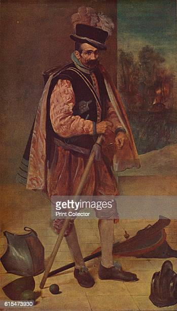 Retrato del bufon Don Juan De Austria' A jester or bufon at the court of Philip IV of Spain from 1624 to 1654 who appeared in court comedies in front...