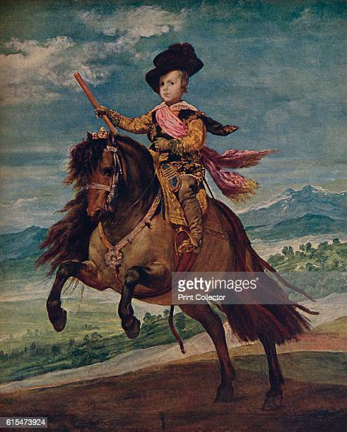 Retrato ecuestre del Infante Don Baltasar Carlos' Equestrian Portrait of Prince Balthasar Charles commissioned as one of a series of portraits for...