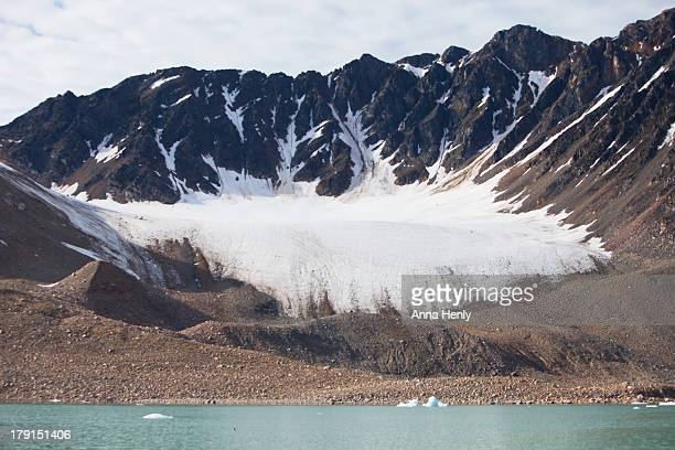 Retreating glacier in the Arctic