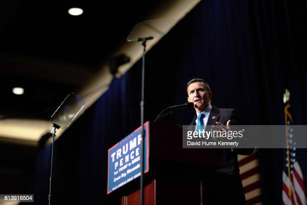 Retried General Mike Flynn speaks at a rally for Republican Presidential Nominee Donald Trump Green Bay Wisconsin October 17 2016