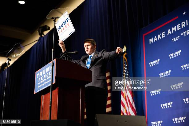 Retried Lieutenant General Mike Flynn speaks at a rally for Republican Presidential Nominee Donald Trump Green Bay Wisconsin October 17 2016