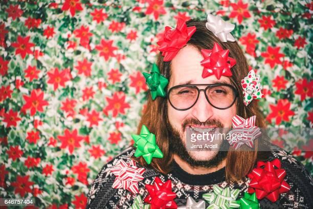 Retro 1980s Goofy Christmas Portrait