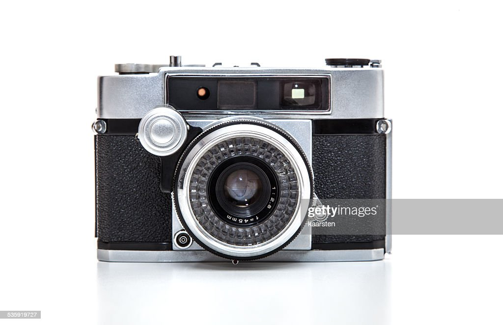 Retro 35mm camera : Stock Photo