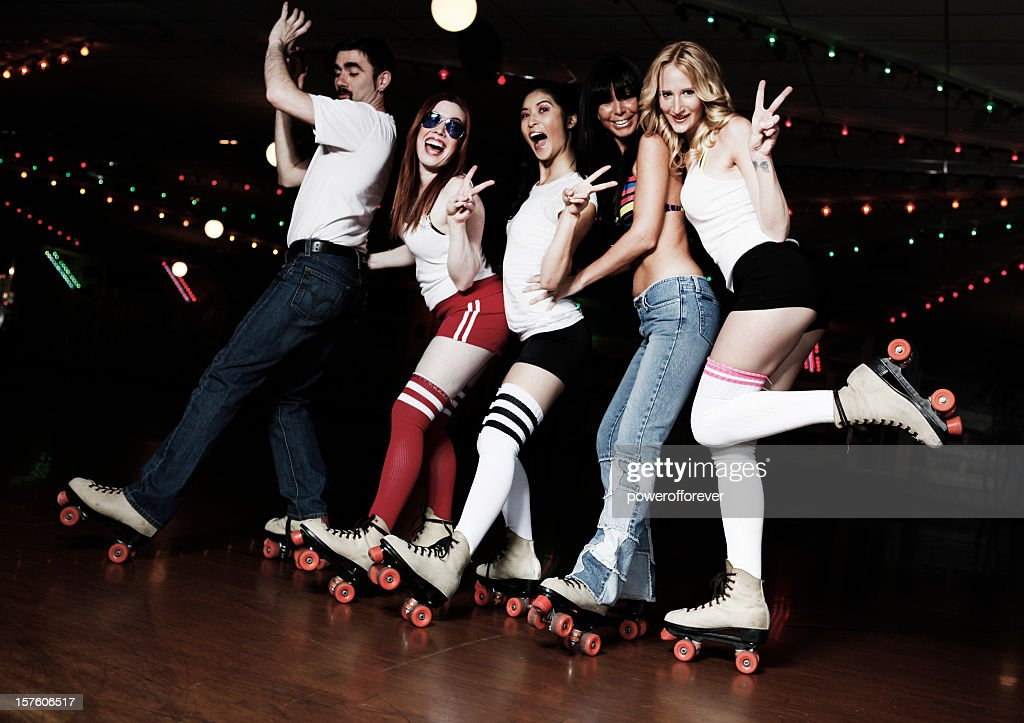 Retro 70s Roller Disco Conga Line