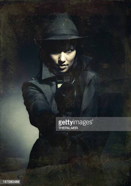 retro action filmmaker - film noir style stock pictures, royalty-free photos & images