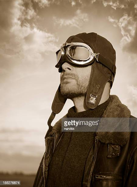 Retro-Flugzeug pilot Foto
