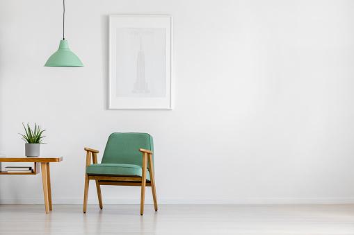 Retro armchair in bright interior 936496268