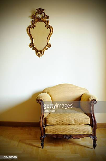 Retro Armchair with Gold Mirror