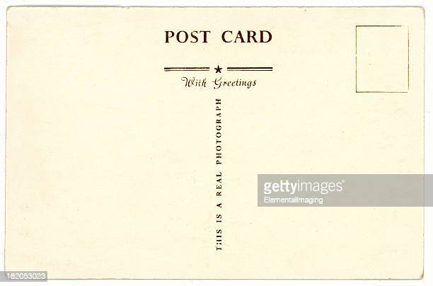 retro background image of an vintage antique postcard back - postcard stock pictures, royalty-free photos & images