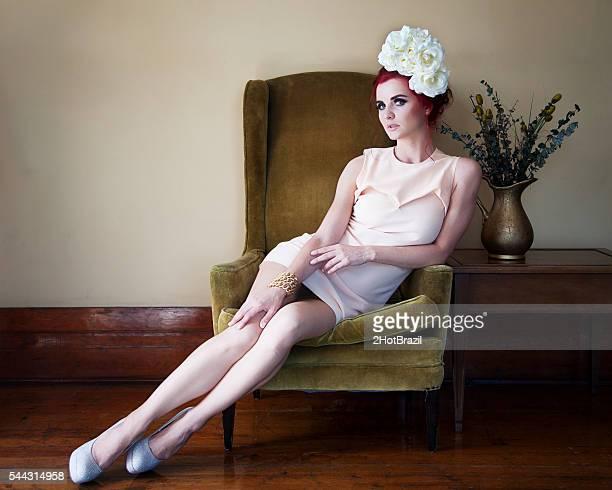 Retro Beautiful Young Woman