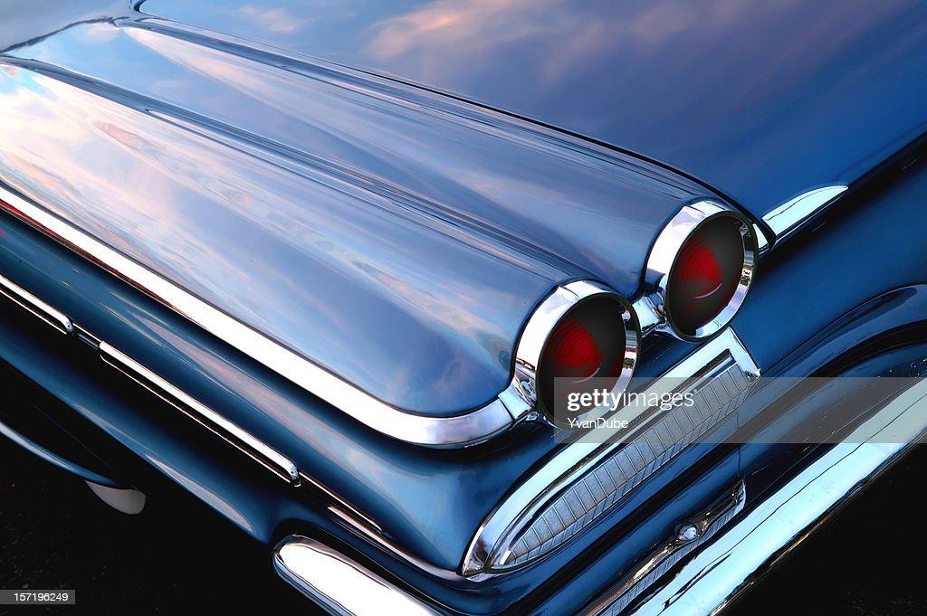 retro blue car : Stock Photo
