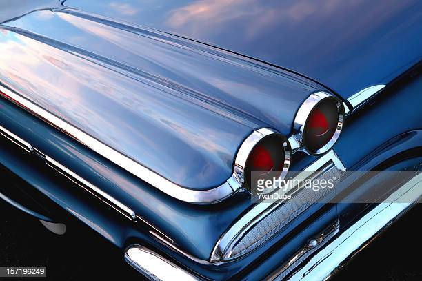 retro blue car - hot rod car stock photos and pictures