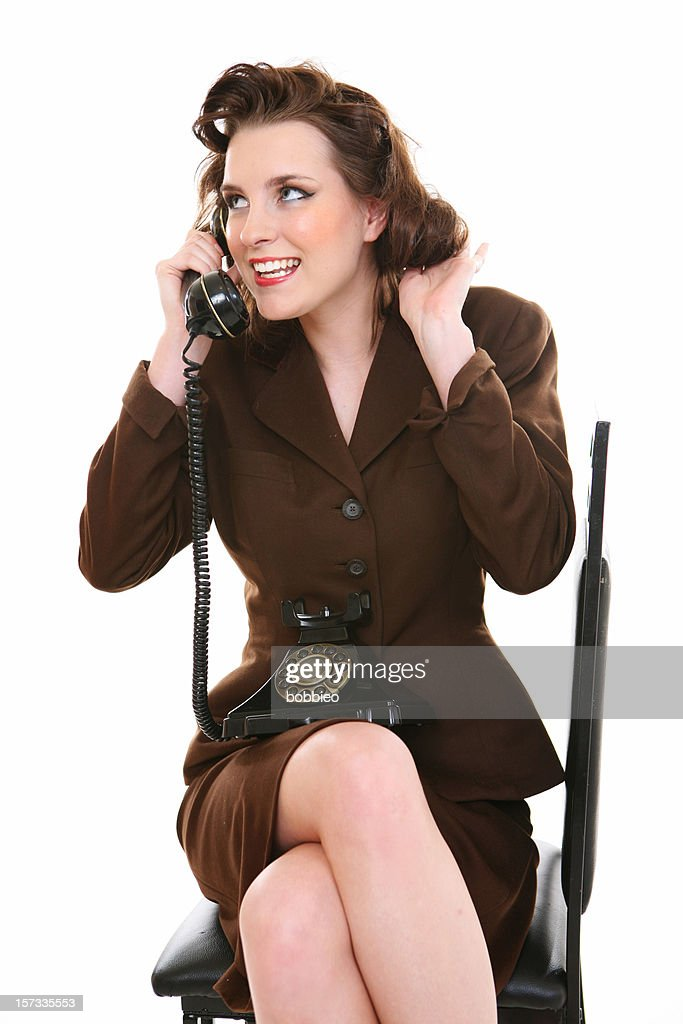 Retro Business Woman : Stock Photo