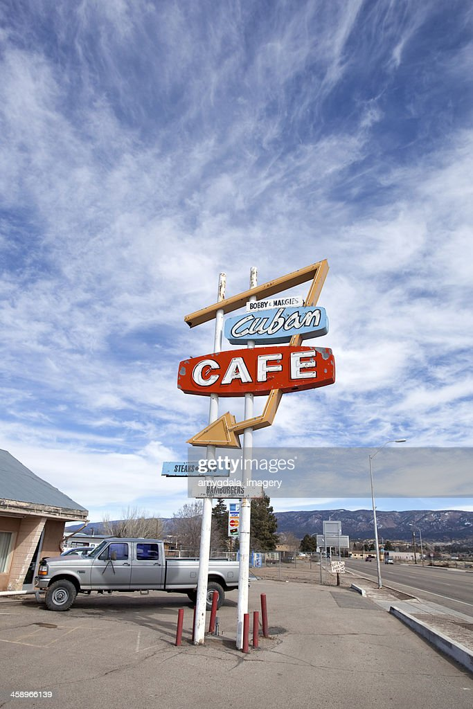 retro-cafe-Schild : Stock-Foto