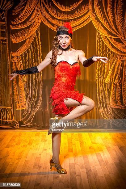 retro charleston dance - fringe dress stock photos and pictures