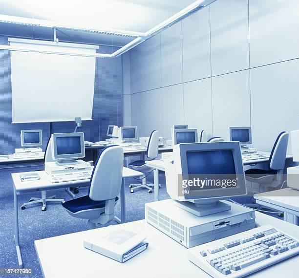 レトロなコンピューター学習ルーム - 1990~1999年 ストックフォトと画像