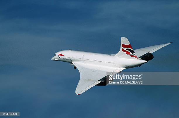 Retro Concorde In New York United States In July 2000