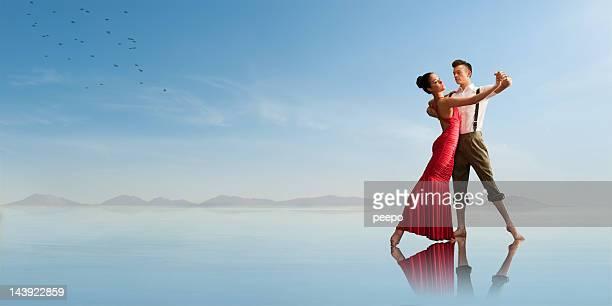 Danse rétro sur la plage