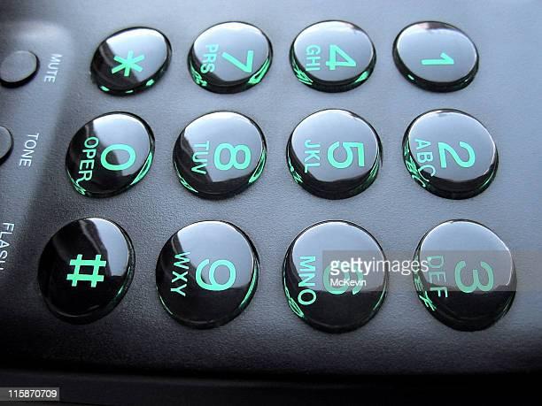 Diseño retro de botón pulsador de teléfono