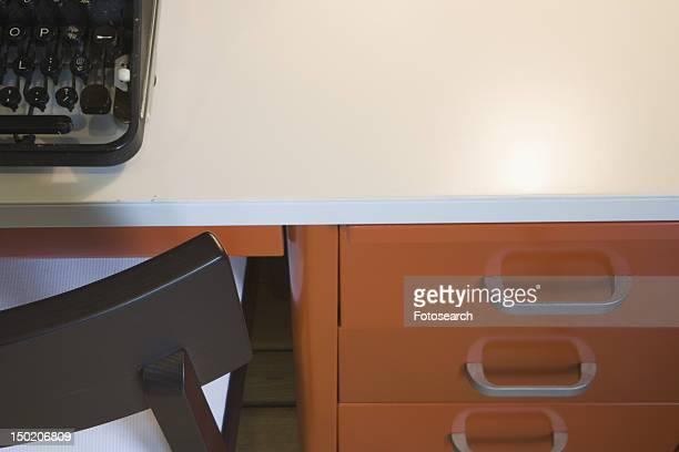Retro desk with typewriter