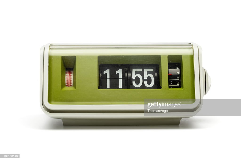 Retro Digital Flip Clock Stock Photo Getty Images