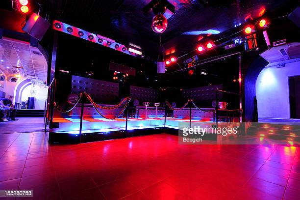 Retro European Disco Dancefloor Interior Nightlife