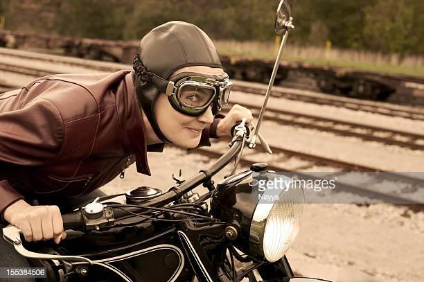 Femme pilote rétro - 1935 Style