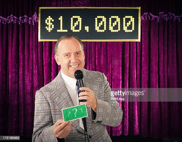 retro game show host - stage set stock pictures, royalty-free photos & images