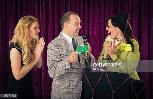 retro game show - stage set stock pictures, royalty-free photos & images