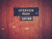 Retro Grunge Interview Room Door