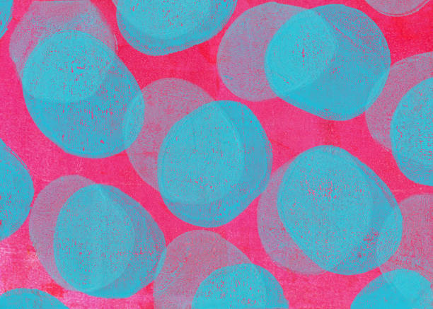 Retro handmade background with pink and blue