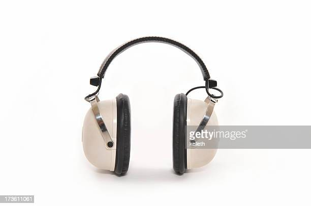 Retro Headphones with Clipping Path